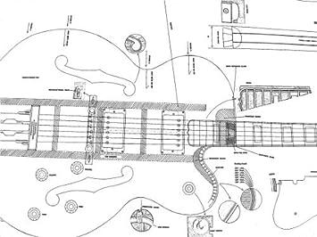 11 plantas para guitarra eléctrica Gibson - Full y dibujos báscula - para hacer guitarras: Amazon.es: Instrumentos musicales