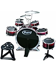 Childs Kids 10 Piece Drum Kit Jazz Band Sound Drums Play Set Musical Toy & Stool