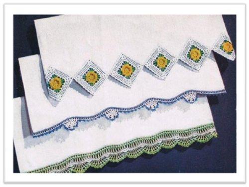 #2595 PILLOWCASE TRIP VINTAGE CROCHET PATTERN (Crochet Pillowcase)