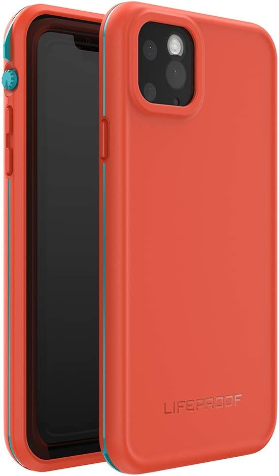 LifeProof FRĒ SERIES Waterproof Case for iPhone 11 Pro Max - FIRE SKY (BLUEBIRD/TANGERINE)