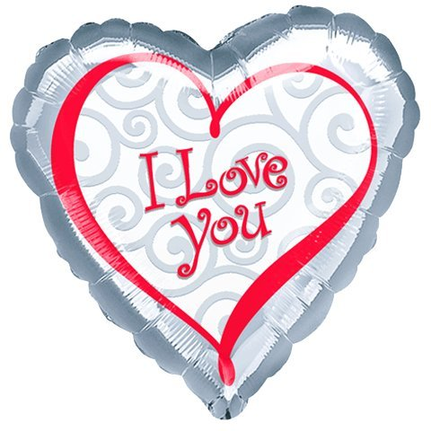 18'' I Love You New Value Line (1 per package) by Anagram