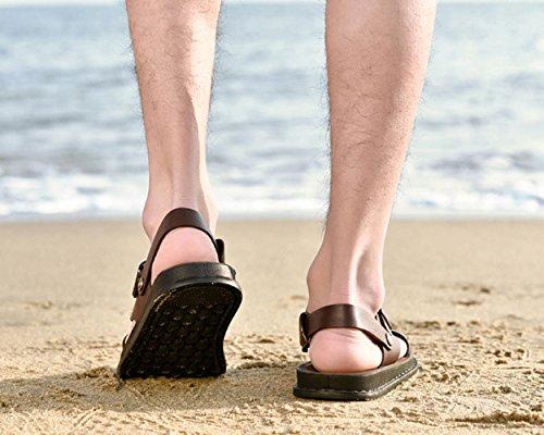 Zapatillas Casuales De Los De Hombres Zapatos Playa Black Verano De Hombres Sandalias Transpirable qnwtAxSFZ8