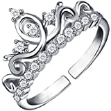 Jewels Galaxy Copper Ring for Women (White)(RNG-5147)