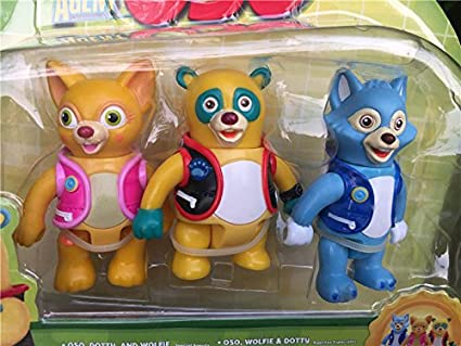 Special Agent OSO 3pcs DOTTY WOLFIE Toy Figures New