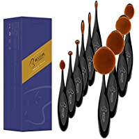 Bestope 10 Piece Makeup Brush Set with Shaped Design for Powder Cream Concealer
