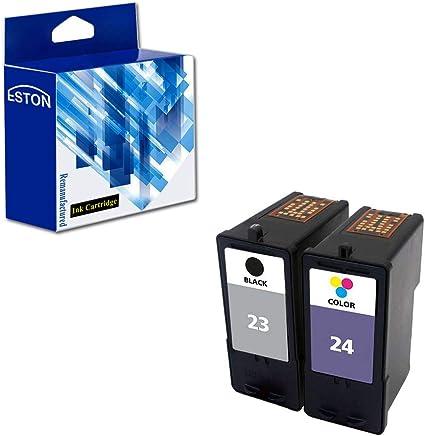Eston Combo Set cartuchos de tinta para Lexmark 23 24 negro/color ...