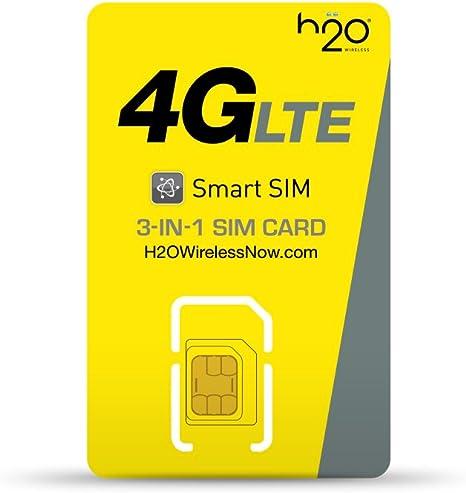 Tarjeta H2O inalámbrica – su Tarjeta de prepago SIM para los EEUU (Kit de Inicio SIM): Amazon.es: Electrónica
