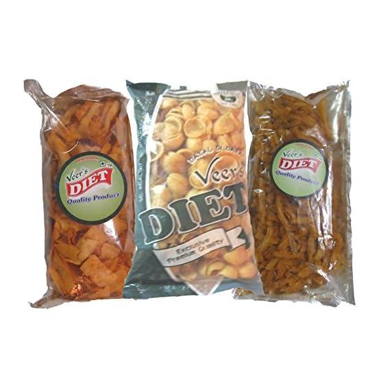 Veer's Diet Combo of SOYA Snacks Pack of 3