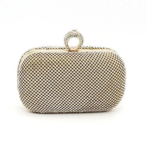 The Bag Silvery Clutch Bag Hand Meaeo Diamond Golden Party New Bag Ring pxwvYqWFd