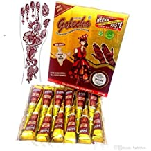 V-Best India Painting Tattoo Paste Cone,12 tube White Paste Cone Temporary Tattoo Kit Indian Body Art Painting Drawing with free Stencil for Art Drawing DIY.(12 Packs)