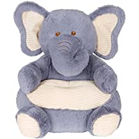 Soft Plush Grey Elephant Childrens Chair With Corduroy Trim18 ...
