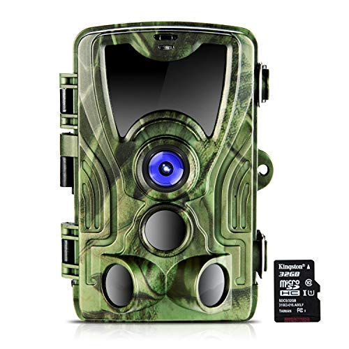 【2019 UPGRADE】Crenova 16MP Trail Camera, 1080P HD IP66 Waterproof Scouting Camera with 120° Wide Detection Angle, Updated 42pcs 940nm IR LEDs Perfect for Wildlife Observation, Hunting & Home Security