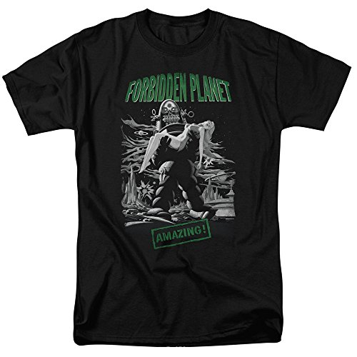 Forbidden Planet 1956 Sci-Fi Action Movie Amazing Robot Poster Adult T-Shirt Action Planet Robot