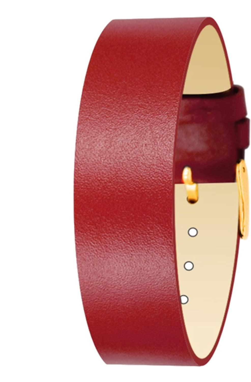 MoogパリFull Grain Red Calfレザーブレスレットの女性、ピン留め金、18 mmバンド – cl-09g  B01HQ8ZQAM