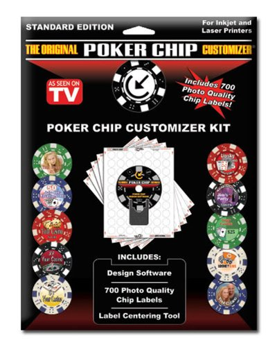 Customized Poker Chip Designer Kit. Includes 700 Labels, Software and Placement Tool (Poker Chip Labels)