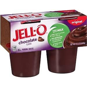 Amazon Com Jello Pudding Cups 4 X 4 Oz Cups Chocolate