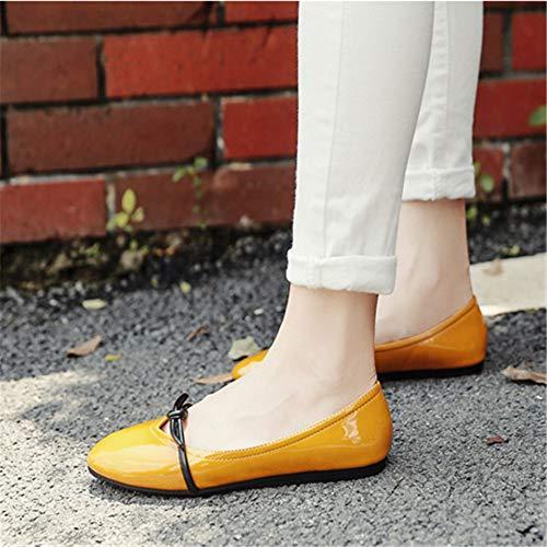 Suave nbsp;Moda Trabajo de Zapatos Zapatos nbsp; de Mujer cómodos de de de Redonda Zapatos A Fondo FLYRCX señoras de Planos Embarazada de Zapatos Antideslizantes Cabeza de nbsp; Trabajo Oficina awnH8q