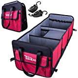 TaoTens Car Trunk Organizer,Auto Cargo Storage Bag with Anti-Slip Straps Collapsible Vehicle Organizer Divider Storage Totes W/ 3-Compartment Organizers for SUV Truck Auto Vehicle Car Auto Minivan