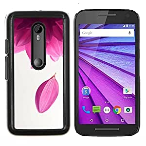 For Motorola Moto G (3rd Gen 2015) - Purple Tea Flower Zen Meditation /Modelo de la piel protectora de la cubierta del caso/ - Super Marley Shop -