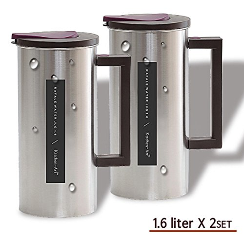 Rafal Stainless Steel Cylindrical Water Bottle Water Zerg 2 Class 1.6L 2EA