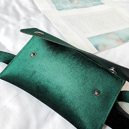 Cuir Sac Sac Green Mini à de Femmes Winkey Taille bandoulière Sac Sac Coffre à bandoulière gxnfq5wzRP