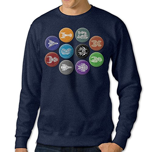 [JXMD Men's FTL Faster Than Light Crewneck Hooded Sweatshirt Navy Size 3X] (One Up Mushroom Costume)