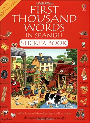 First 1000 Words in Spanish Sticker Book (First Thousand Words Sticker Book): Heather Amery, Stephen Cartwright: 9780746051030: Amazon.com: Books
