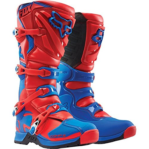 Red/Blue Sz 10 Fox Racing Comp 5 Boots Motocross