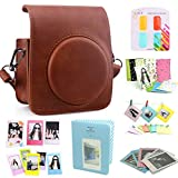 CAIUL Compatible Mini 70 Camera Case Bundle with Album, Filters & Other Accessories for Fujifilm Instax Mini 70 (Brown, 8 Items)