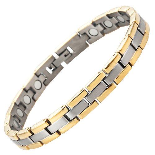 Willis Judd neue magnetische Damen-Armband aus Titan in schwarzen Samtgeschenkpackung + kosenlose Gerät für Gliedentfernung