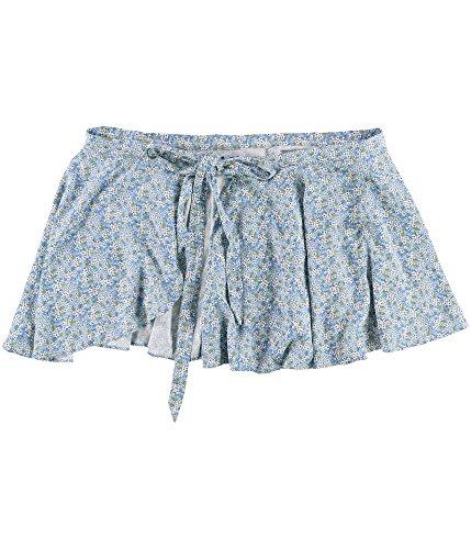 Denim & Supply Ralph Lauren Womens Woven Floral Print Wrap Skirt Blue M (Lauren Woven Jeans)