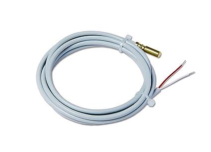 Sensor de temperatura PT1000, cable de PVC de la sonda de inmersión 2,0