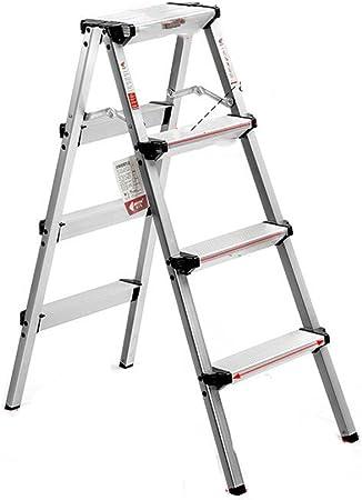 Escalera De Mano Plegable Aluminio Escaleras Taburete De Sillas Porta Floreros Escaleras Plegables Multifuncionales De Uso Doble Para Escaleras Taburete De Escalada Para El Hogar,AluminumAlloy-4Steps: Amazon.es: Hogar
