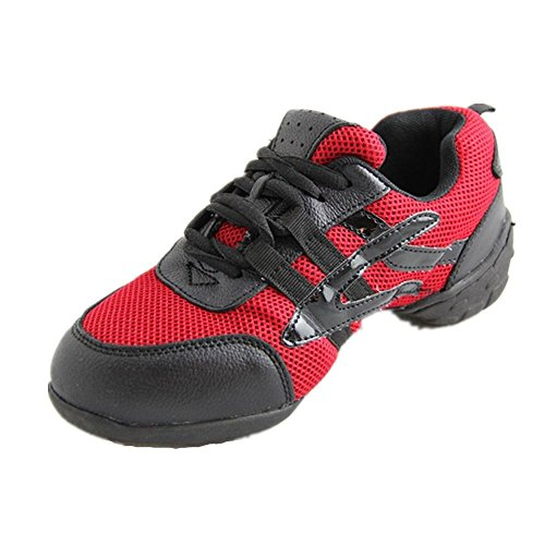Canvas Upper Dance Danzcue Red Womens Sneaker 1Y4q1z7UW