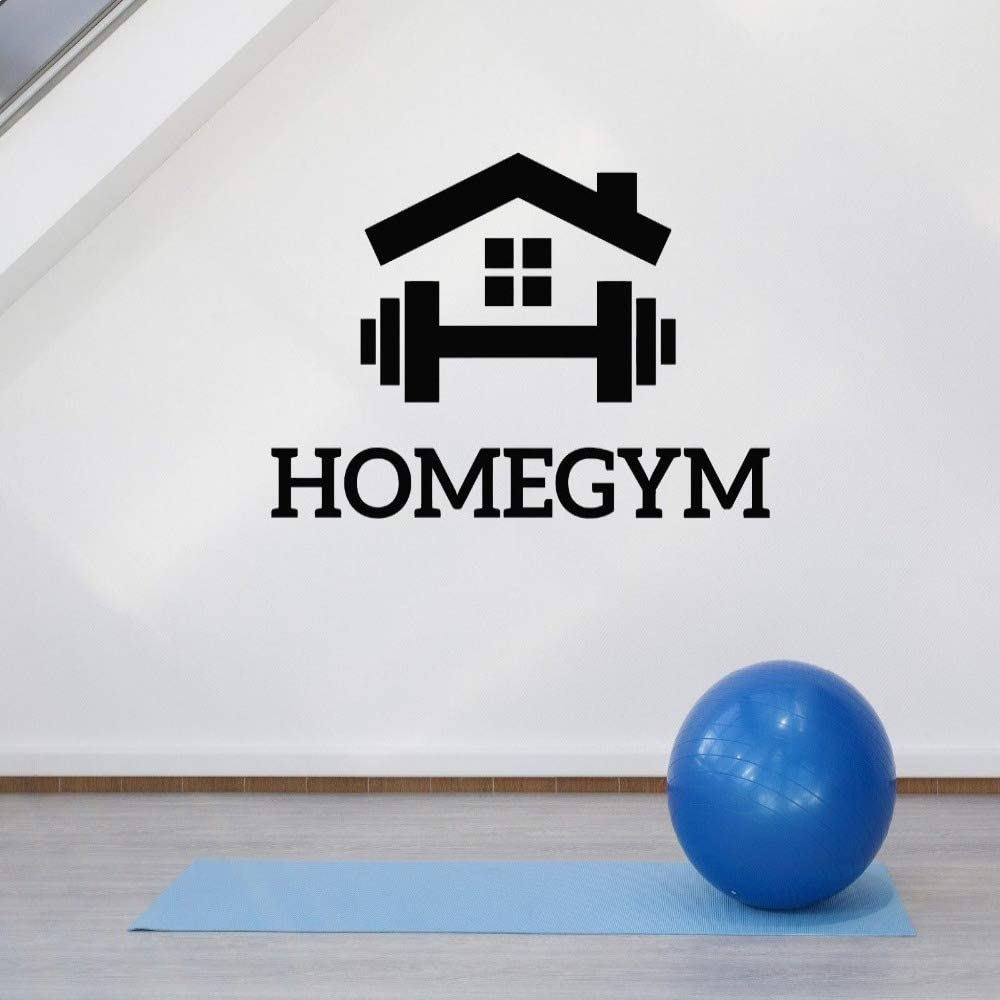 Home gym wall decoration decals fitness motivation exercise room decoration stickers bedroom art stickers murals removable wallpaper wall stickers60X42cm