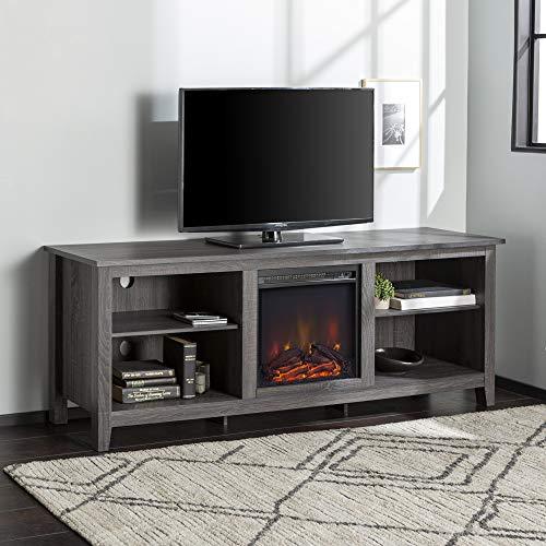 Amazon Com We Furniture Minimal Farmhouse Wood Fireplace