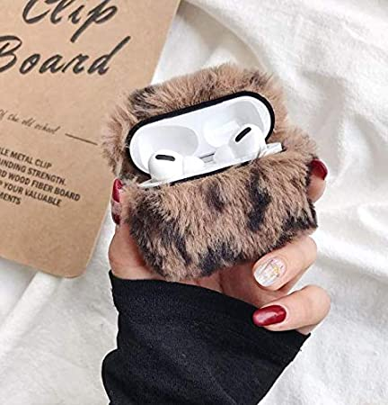 Case for Airpods Pro Cute Airpods 3 Accessories Fun Cool Keychain Design Cover Cases New Cute Trendy Faux Fur Protective Cover for Airpods Pro Charging Case 2019 Pink Airpods Pro Case