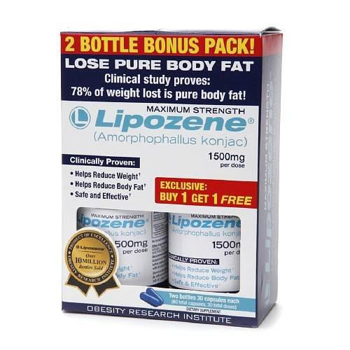 Lipozene Weight Lose Capsules 60 ea (2)