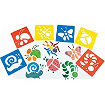 6 Pieces Washable Plastic Children's Drawing Template Board Set Toys Kids Painting Stencils Insects Color Random By DINGJIN