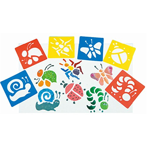 6 Pieces Washable Plastic Children's Drawing Template Board Set Toys Kids Painting Stencils Insects Color Random By DINGJIN by DINGJIN (Image #1)