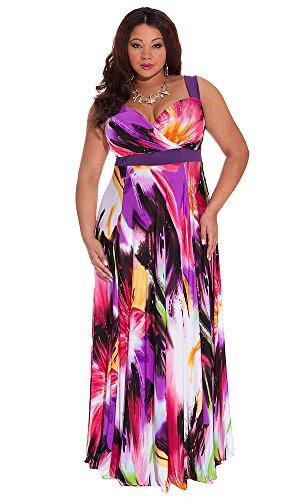 IGIGI Women's Plus Size Tropical Beauty Maxi Dress 30/32