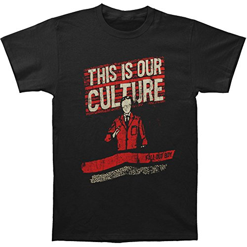 Fall Out Boy Men's Culture T-shirt Large Black