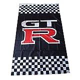 Tree-Flag Black GTR flag Nissan GTR car banner Nissan GTR Vertical flag Durable Polyester Banner Nissan GTR Racing car flags 3×5 ft Review