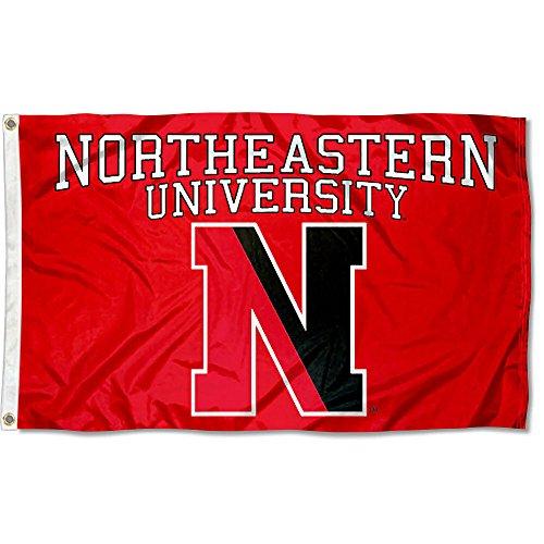 Northeastern Huskies NU University Large College Flag