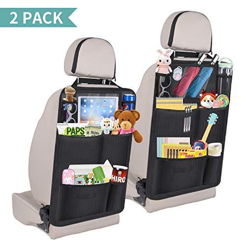 Enjoyee Upgraded 2 Pack Car Back Seat Organizer for Kids Car Organizer - Organiser Car Toys Kids