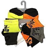 Nike Youth Boy's SB Quarter 6 Pairs Socks Shoe Size 5Y-7Y/Sock Size 9-11