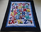 Hawaiian Quilt Baby Blanket/Wall Hanging, hand quilted and machine embroidered Hawaiian ABC