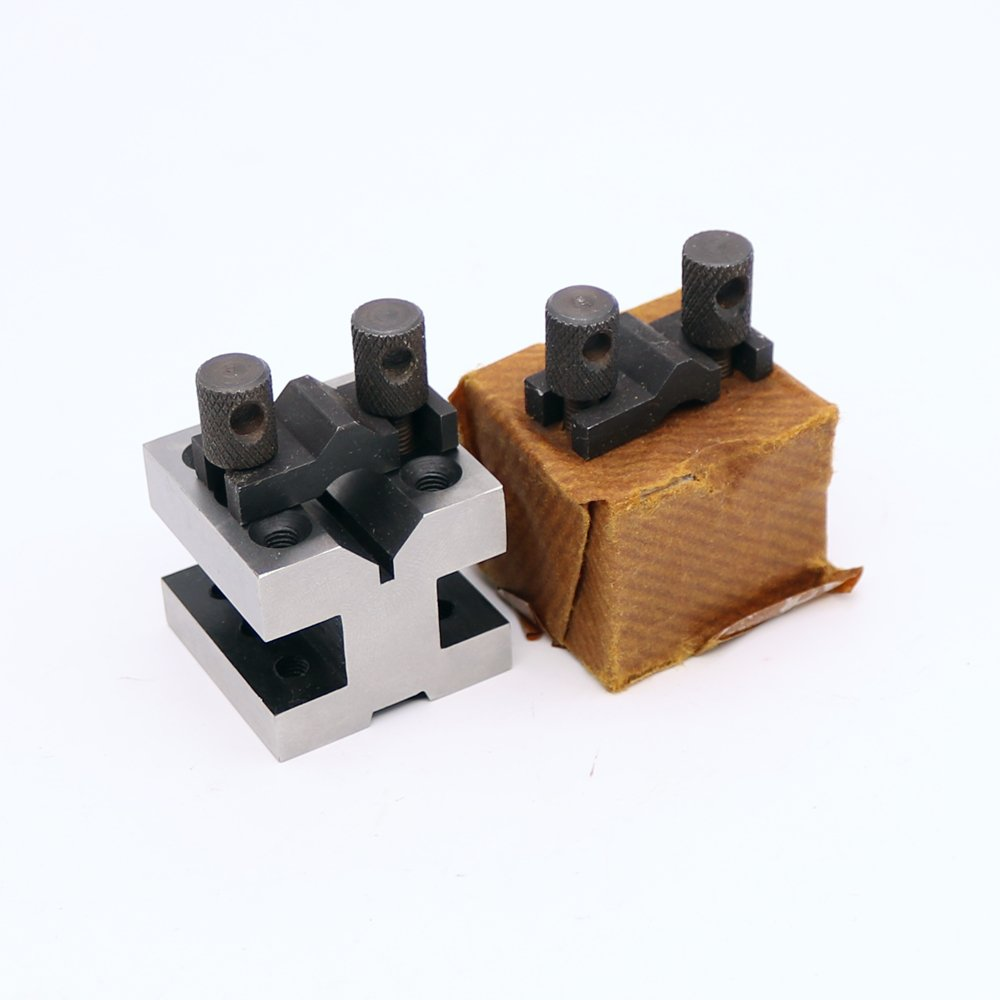 2Pcs 60x60x50mm V-blocks Clamping Set Centering Clamping Tools for The Machine