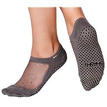 Shashi Glitter Mesh Non Slip Ergonomic Socks For Pilates Barre Ballet Yoga Dance