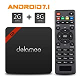 4K Android TV Box , Dolamee D3 Android 7.1 3D UHD Media Player 2GB RAM 8GB ROM Amlogic Boxes Support 2.4G WIFI